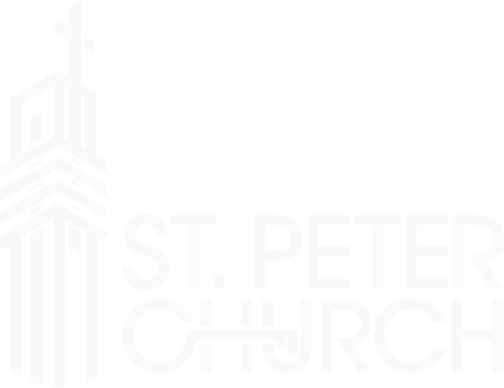 St. Peter Church Logo - White
